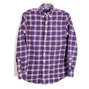 Vineyard Vines plaid the whale shirt button down